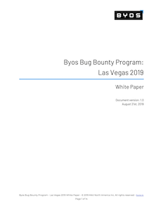 Bug Bounty Program - Las Vegas 2019