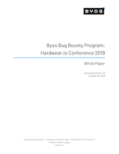 Bug Bounty Program - Hardwear.io 2019