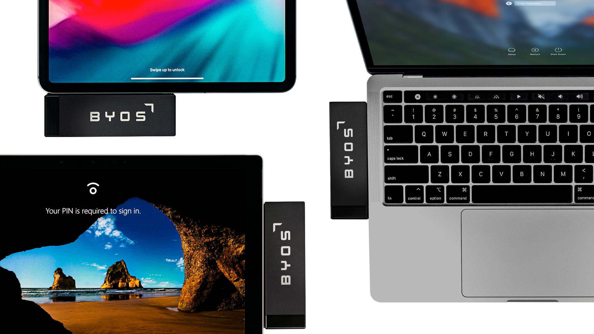 The Apple© iPad® and MacBook® Pro are trademarks of Apple Inc. The Microsoft© Surface Pro® is trademark of Microsoft Corp.